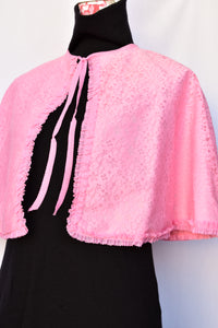 Pink retro Boudoir make-up cape, one size