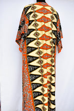 Load image into Gallery viewer, Patterned 70's maxi, size L
