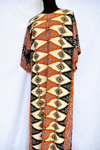 Patterned 70's maxi, size L
