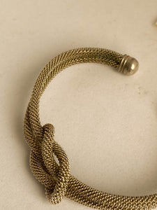 Twisted knot bracelet