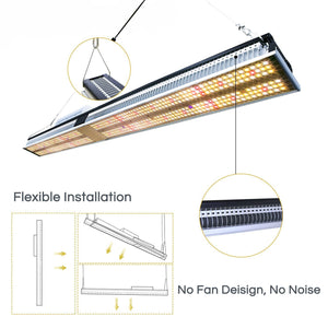 ECO Farm 150W/250W Quantum Board Led Grow Light Bar For Indoor Plants