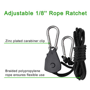 "Eco Farm 1/8""(3 mm) verstelbare hanger met ratellicht"