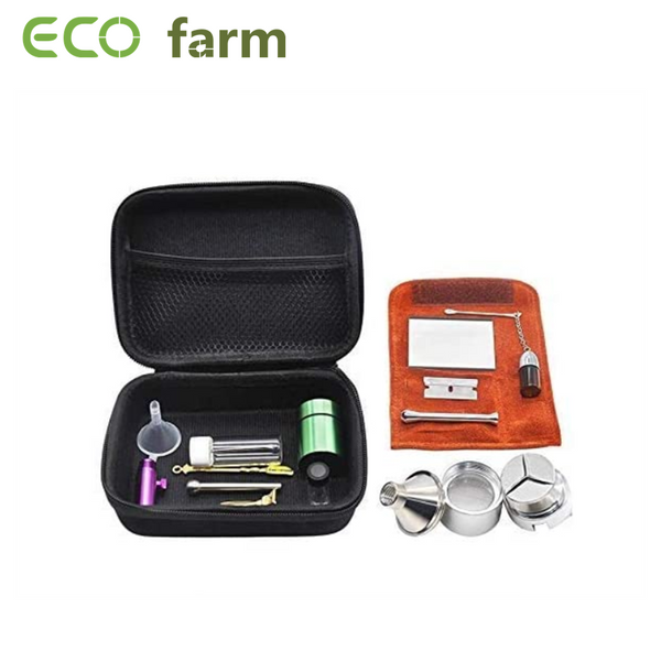ECO Farm 12 PCS Snuff Kits met Case Tobacco Bag Herb Grinder Sets