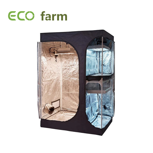 Eco Farm 4x3FT(48x36x72 Inch/120x90x180CM) 600D 2-in-1 Kweektent