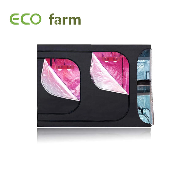 Eco Farm 9x4FT(108x48x80 Inch/270x120x200CM) 600D 2-in-1 Kweektent