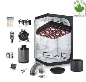 Eco Farm 4 x 4 FT (48 x 48 x 80 Inch / 120 x 120 x 200 CM) DIY Grow-pakket Indoor Compleet Kweeksysteem