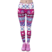 Load image into Gallery viewer, Zohra Brands Women Fashion Legging Aztec Round Ombre Printing leggins Slim High Waist  Leggings Woman Pants