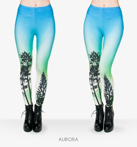 Zohra Brand Night Moon 3D Printing Our world Legging Punk Women Legins Stretchy Trousers Casual Pants Leggings