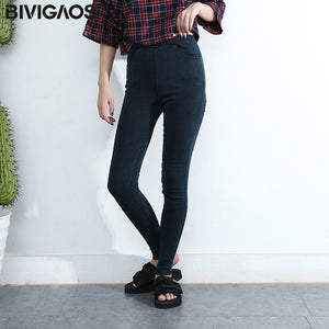 Women Jeans Leggings Casual Fashion Skinny Slim Washed Jeggings Thin High Elastic Denim Legging Pencil Pants For Women