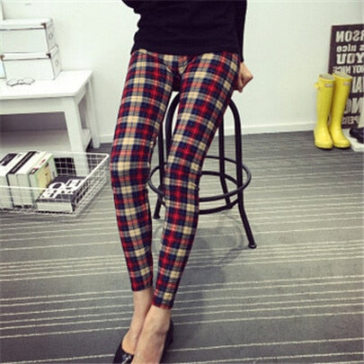 Hot Print Flower Leggings Leggins Plus Size Legins Guitar Plaid Thin Pant Fashion Women aptitud Trousers K092