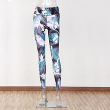 Load image into Gallery viewer, JLZLSHONGLE New Flower Leaf Print Leggings Women Not Transparent Fitness Slim Jeggings Sporting Pants Elastic Leggins Drop Ship