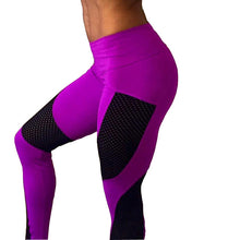 Load image into Gallery viewer, New Sexy Push Up Mesh Leggings For Women Elastic Patchwork Workout Legging Pants Women's Fashion Ladies Fitness Leggings Leggins