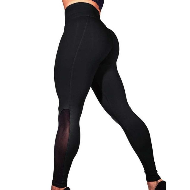 Hayoha Net yarn leggings women slim fitness leggings female pencil pants
