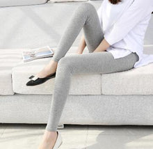 Load image into Gallery viewer, solid color leggings s- 7xl women Modal cotton leggings long legging pants grey black white 6XL 5XL 4XL 3XL XXL XL L M S
