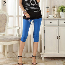 Load image into Gallery viewer, Women's Casual Seamless Capri Leggings Workout Pants
