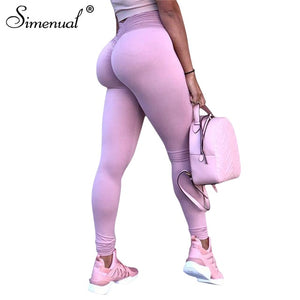Simenual Push up mesh high waist leggings for fitness women sportswear 2018 ruched legging bodybuilding athleisure jeggings sale