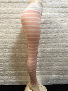 High Waist Fitness Wear for Women 3D Zebra Pattern Print Leggings Women's Stripes Capris Ladies Girl Seamless Stretch Pants