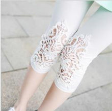 Load image into Gallery viewer, S- 7XL plus size leggings women leggings lace decoration white leggings size 7XL 6XL 5xl 4xl 3xl xxl xl L M S custom made