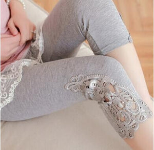 S- 7XL plus size leggings women leggings lace decoration white leggings size 7XL 6XL 5xl 4xl 3xl xxl xl L M S custom made
