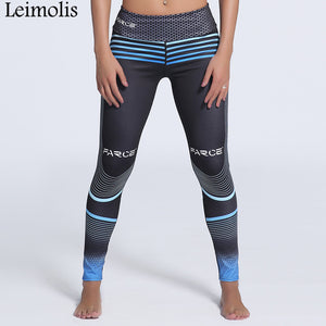 Leimolis 3D print Striped Honeycomb winter Harajuku High Waist workout push up plus size fitness leggings women pants