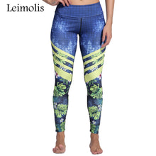 Load image into Gallery viewer, Leimolis 3D print Jungle Spring Flower winter Harajuku High Waist workout push up plus size fitness leggings women pants