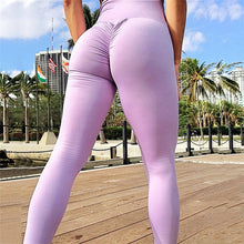 Load image into Gallery viewer, NORMOV Solid Fitness Clothing Leggings Women Pocket High Waist Pants Trousers Female Workout Patchwork Leggins Push Up 2 Color