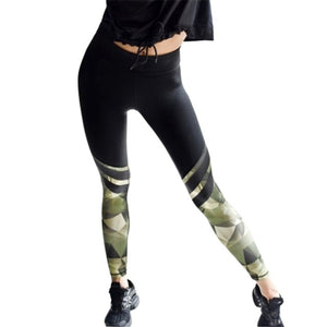 Sporting Pants 2018 New Women Leggings  High Elastic Workout Leggings Fitness Camouflage Patchwork Thick Legging