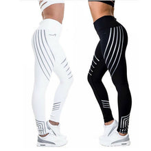Load image into Gallery viewer, LAAMEI Woman Fitness Leggings Light High Elastic Shiny Leggins Workout Slim Fit Women Pants Black Trousers Casual Leggings