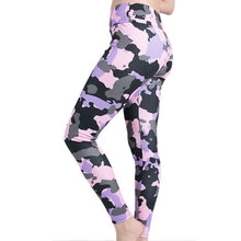 Load image into Gallery viewer, Women Stretchy Fitness Excercise Pink Camouflage Leggings Ladies Summer Digital Print Camo Leggings Workout Active Pants