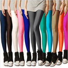 Load image into Gallery viewer, CHSDCSI Sexy Solid Candy Neon Plus Size Women's Leggings High Stretched Deportes Jeggings Aptitud Clothing Ballet Dancing Pant