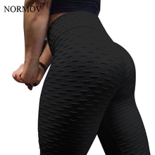 Load image into Gallery viewer, NORMOV Women Push Up Leggings High Waist Classic Trousers Female Workout Leggings Fitness Clothing Solid Breathable  6 Color