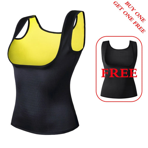 2 pieces Women's Waist Trainer Neoprene Slimming Vest Waist Trainer Body Shaper for Weight Loss Shapewear Neoprene