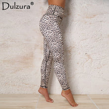 Load image into Gallery viewer, Dulzura leopard print push up high waist leggings women sexy stretch fitness summer autumn workout pant