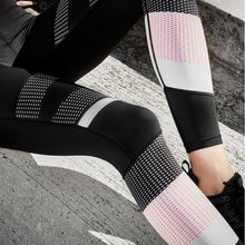 Load image into Gallery viewer, Women High Waist Patchwork Womens Leggings Pants Women Fitness Pants Leginy Leguin Femenina Pantalones Mujer