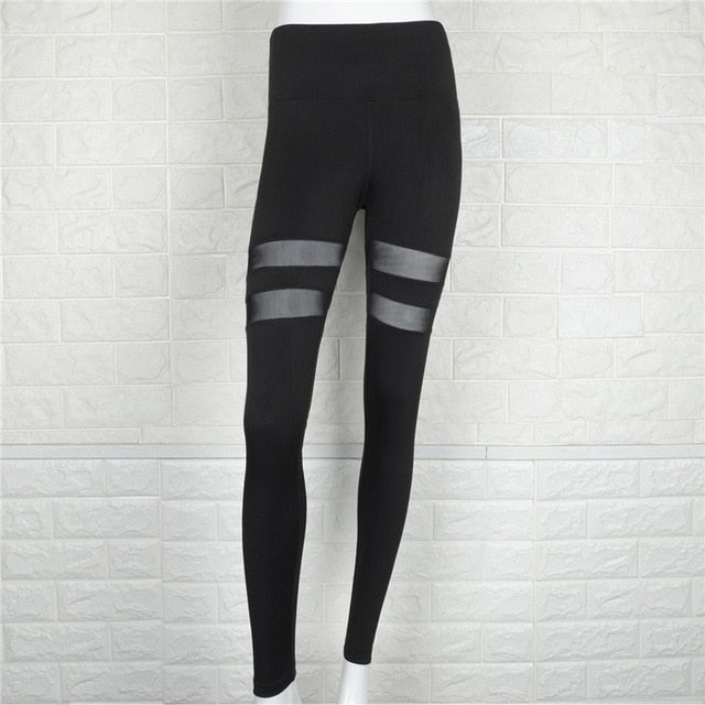 Women's Patchwork Pants Fitness Leggings Casual Slim Amercian Style Leggings Sexy Lady Work Out Femme Pants