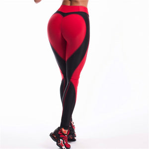 Heart Leggings For Women Athleisure Push Up Women's Pants Bodybuilding Sporting Jeggings Sexy Fitness Legging