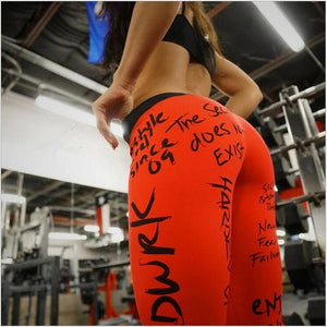 Women  Printing Leggings Put Hip Elastic High Waist Legging No Transparent Fitness leggings No Transparent Breathable Pants