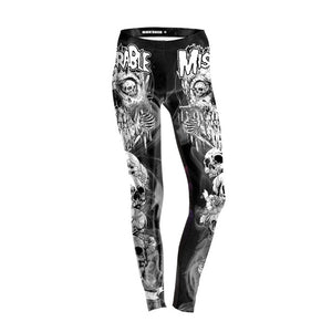 FCCEXIO New Style 5 Colors Skeleton High Waist Leggings Skull 3D Legging Stretch Fitness Legins Women Workout Pants