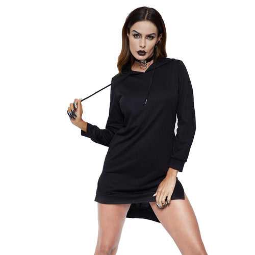 Sexy Backless Bandage Lace-up Sweatshirts Women spring black  Pullovers Hoodies Casual Long Sleeve Tracksuit Gothic Tops