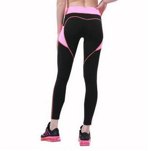 Splicing Style Leggings Put Hip Fold Elastic High Waist Legging Breathable Slim Pants