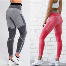 Load image into Gallery viewer, Women's Sporting Leggings Sexy Patchwork Dot Print Pants Skinny High Elastic Fitness Workout Joggers Trousers Lady Sweatpants