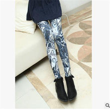 Load image into Gallery viewer, Spring 2019 Fashion Girl Legging Spandex aptitud Print Floral Leggings Leggins Milk Silk Women Pants Leaf Tetris Clothing K090