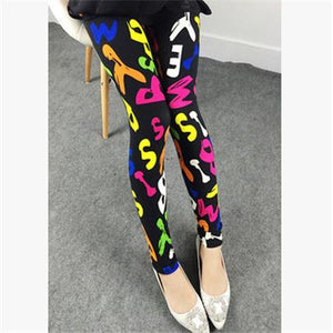 Spring 2019 Fashion Girl Legging Spandex aptitud Print Floral Leggings Leggins Milk Silk Women Pants Leaf Tetris Clothing K090