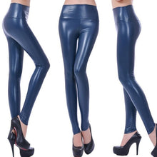 Load image into Gallery viewer, YGYEEG Faux Leather High Waist Leggings New Fashion Women's Sexy Skinny High Elasticity Leggings Pants S/M/L/XL/XXL Multicolor