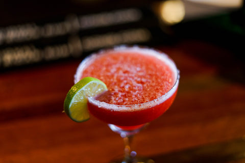 Frozen Strawberry Margarita with Lime