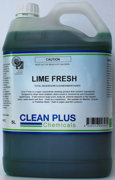 Lime Fresh Washroom Cleaner with fresh Lime Fragrance