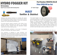 "Hydro Fogger Kits - 12"" High pressure Hand held accessory Spitwater"