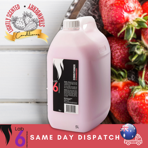 Lab 6 Strawberry Scented Conditioner 5lt, Same Day Dispatch, Au stock, With pump