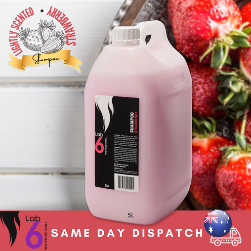 Lab 6 Strawberry Scented Shampoo 5lt, Same Day Dispatch, Au stock, With Pump