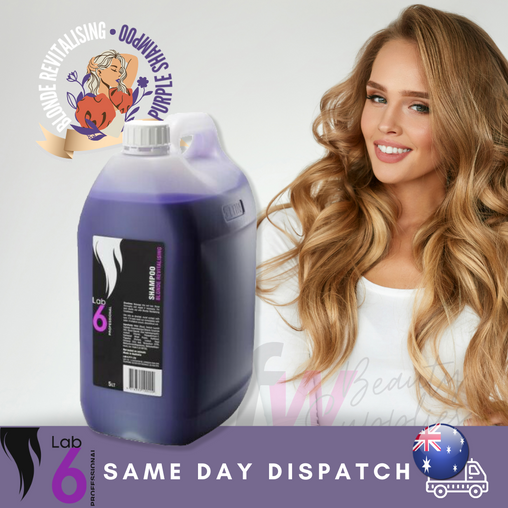 Lab 6 Blonde Revitalising Purple Shampoo 5lt, Same Day Dispatch, Au stock